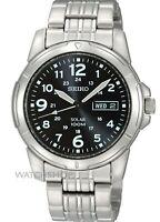 Seiko Men's SNE095P1 Solar Power Analog Quartz Stainless Steel Watch