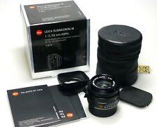 Leica Summicron-M 35mm F2 ASPH. 11879 6-Bit WIE NEU / LIKE NEW