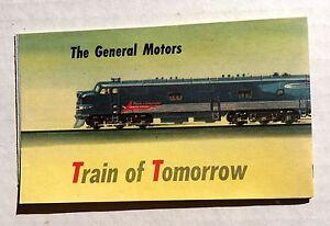1947 General Motors Train of Tomorrow Advertising Brochure