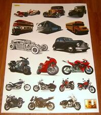 Baby Nursery Childrens Kids Boys Cars Trucks Motorbikes Wall Stickers Bedroom