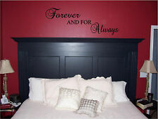 Forever & For Always Bedroom Wall Sticker Wall Art Vinyl Wall Home Decor Letters