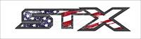 """Set of 2 - STX Ford F150 F250 F350 Truck Carbon Fiber USA Flag 16"""" Decal Sticker"""
