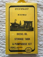 Stewart HO Metal Diesel Storage Tank & Pumphouse Kit-NIB