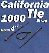 """1000 X pcs Black 4"""" Tie Cord Strap 100mm Network Nylon Plastic Cable Wire Zip"""