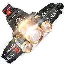 Waterproof Headlamp Flashlight Super Bright LED Headband Torch Rechargable