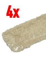 4x Professional 100cm Wischmop 100%  Baumwolle Staubmop Bodenwischer Wischbezug