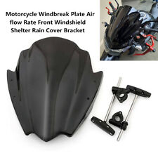 Motorcycle Windbreak Air flow Rate Front Windshield Shelter Rain Cover Bracket