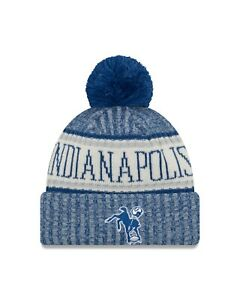 Indianapolis Colts New Era 2018 Historic Sport Knit Sideline Hat- Blue