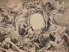 François BOUCHER (1703-1770) Huquier, Paris Livre des Fontaines circa 1770