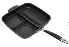 Master Pan Non-Stick Multi-Section 3-in-1 Frying Grill Induction Hob Masterpan