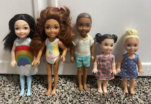 Barbie Skipper Babysitter Inc. Doll Lot - Asian African American - Blonde