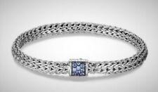 John Hardy Classic Chain Bracelet with Blue Sapphire