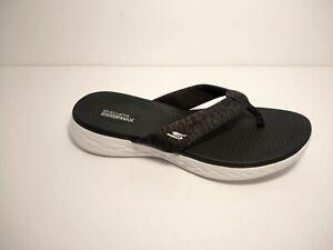 Skechers Women's On-The-go 600-Preferred Flip-Flop, 9 US, Black/White