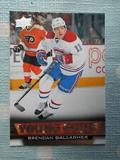 2013/14 Upper Deck Young Guns Brendan Gallagher #477 Rookie RC