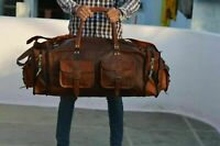 Leather Travel Bag Duffel Weekender Large Duffel Gym Overnight Carry On Luggage