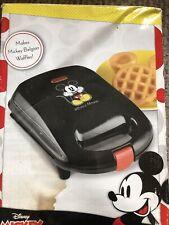 Disney Mickey Mouse Belgian Waffle Maker Nonstick Baking Plates New!