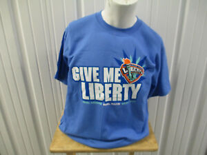 VINTAGE GILDAN WNBA NEW YORK LIBERTY GIVE ME LIBERTY LARGE BLUE T-SHIRT NWOT SGA