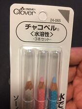 Clover CHACO LINER PENCIL 3 color set From JAPAN