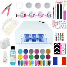 Kit Gel UV Manucure Eco Lampe Faux Ongles Nail Art Capsules