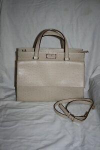 Kate Spade Ivory Ostrich Leather Handbag