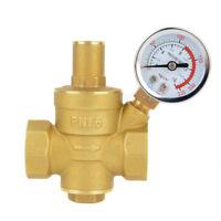 Einstellbare Wasserdruckminderer Messing Regler Ventile Mit Manometer DN20 Neu