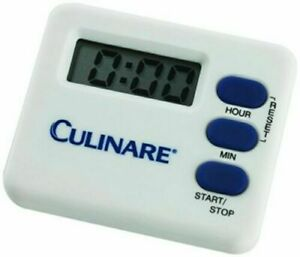 Culinare Digitimer White Digital Kitchen Timer Magnetic Clip On Or Stand
