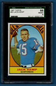 Jack Kemp 1967 67 Topps Football #24 SP SGC NM-MT 8 Buffalo Bills Vintage AFL