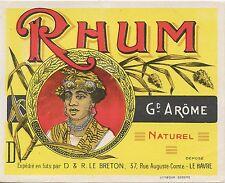 ETIQUETTE / RHUM NATUREL / LE BRETON LE HAVRE