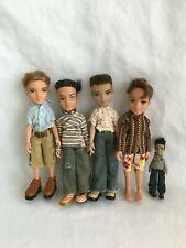 Bratz Boyz Doll Lot of 4 Plus 1 Mini