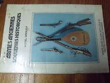 µ? Catalogue vente 12 juin 1975 à Hotel Drouot Armes Anciennes Souvenirs Histore
