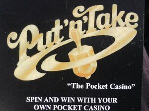 Put'n'Take,Put and Take,Spin'n'Win Game,Spinning Brass Top 'Pocket Casino'  New