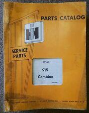 1969 International Harvester HT-51 915 Combine Parts Manual