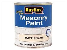 Rustins-Secado Rápido pintura de albañilería Crema 500ml