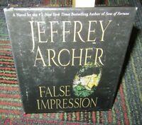 FALSE IMPRESSION 5-DISC CD AUDIOBOOK BY JEFFREY ARCHER, READ BY BYRON JENNINGS
