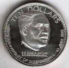 Bahamas 10 Dollaro 1974 argento Butler @@ @@Eccellente@@ @@
