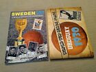 COMBO SET URUGUAY 30 + SWEDEN 58 WORLD CUP SOCCER EMPTY ALBUMS + 586 STICKERS