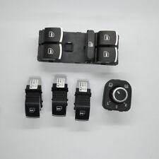 5pcs Chrome Window Switch Mirror Switch For VW Jetta Golf GTI MK5 MK6 Rabbit