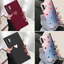 F Samsung Galaxy Note 20 Plus S20 Note 10 Slim Case Heart Protective Phone Cover