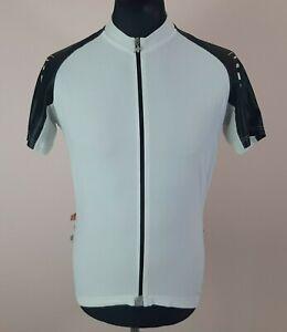 5/5 Assos SS.13 Cycling Jersey Men's Size XL Full-Zip Short Sleeve White Shirt