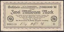 Ratzeburg -Kreis Lauenburg- 2 Millionen Mark vom 15.08.1923