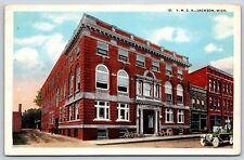 The Y.M.C.A Building in Jackson, Michigan Jackson County White Border Postcard