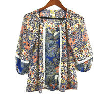Fig & Flower anthropologie boho peasant patchwork hippy festival top balloon S