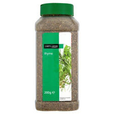 Quality Dried Thyme Heat Treated in 200g Tub with 2 Closeable Lids Chefs Larder