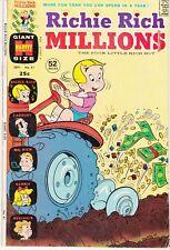 RICHIE RICH MILLIONS  #61 1973 -HARVEY GIANT SIZE -GLORA, CADBURY, REGINALD..VG+