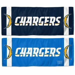 """NFL LOS ANGELES CHARGERS ENDURACOOL INSTANT COOLING TOWEL 12"""" X 30"""" NEW"""