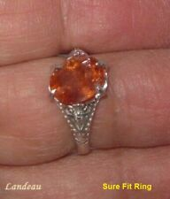 4 ct Royal Red Topaz Adjustable Silver Ring