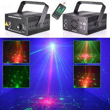 3 Lens 48 Patterns RG Blau LED DJ Show Disco Beleuchtung Laserlicht Discolicht