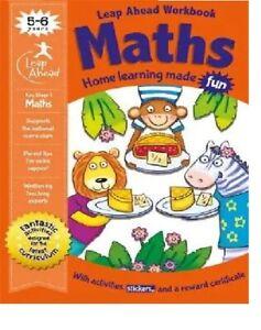 Children Activity Maths Book Leap Ahead Practice Workbook  Age 5-6