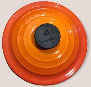 Le Creuset Volcanic orange Size 16 Pan Lid Great Condition