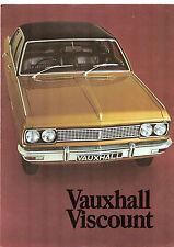 Vauxhall Viscount PC 3300 1970-71 UK Market Foldout Sales Brochure